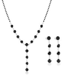 Komplet biżuterii czeskiej wieczorowej - KOM447