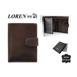 Portfel męski - RM-04L-BCF/9738 BROWN - P1390