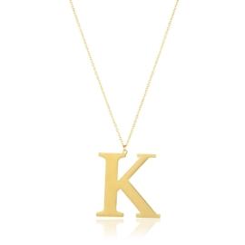 Naszyjnik stal literka K - Aisadi CP5377