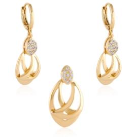 Komplet biżuterii z kryształkami - Xuping PK566