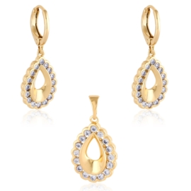 Komplet biżuterii z kryształkami - Xuping PK567