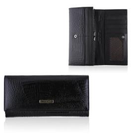 Portfel damski skórzany 7401-RS/0113 Black P1404
