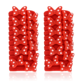 Gumeczki kokardki czerwone 24szt/op OG923