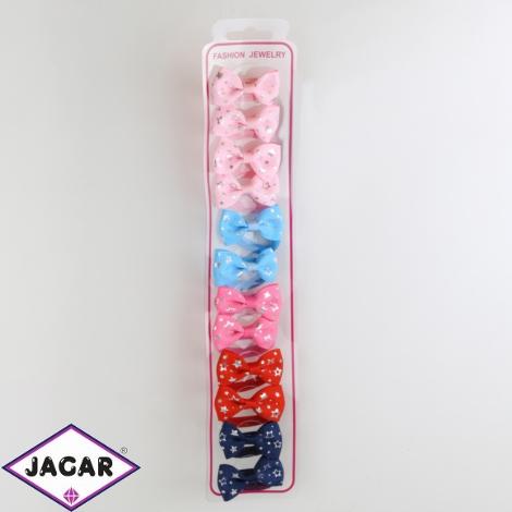 Gumeczki z kokardkami mix kolorów 12szt/op OG930