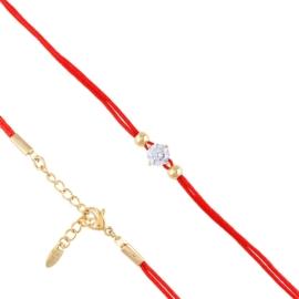 Bransoletka czerwonym na sznurku Xuping BP7979