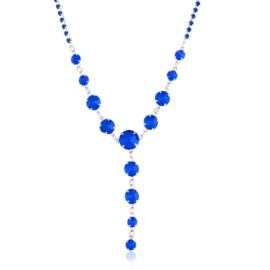 Naszyjnik niebieski czeskie kryształy NA2121