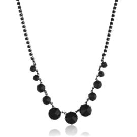 Naszyjnik czarny czeskie kryształy NA2127