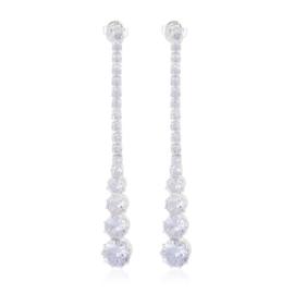Kolczyki czeskie kryształy 6,5cm KD-2020 EA3773