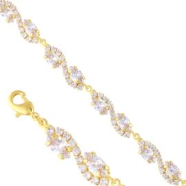 Bransoletka czeskie kryształy B-2015 BRA3340