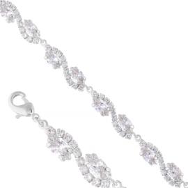 Bransoletka czeskie kryształy B-2015 BRA3341