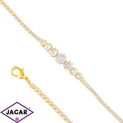 Bransoletka czeskie kryształy B-2020 BRA3352