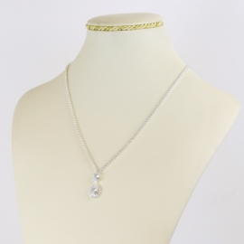 Naszyjnik czeskie kryształy N-2025 NA2149