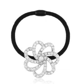 Gumka do włosów z kryształowym kwiatem OG968