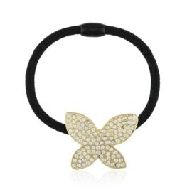 Gumka do włosów z kryształowym motylkiem OG979
