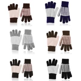 Rękawiczki damskie 21cm R-032 MIX 12 par RK617