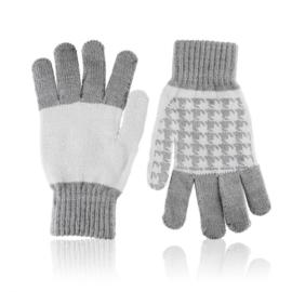 Rękawiczki damskie 21cm R-032 szary RK620