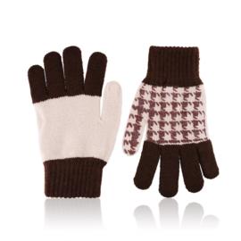 Rękawiczki damskie 21cm R-032 j.brąz RK622