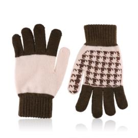 Rękawiczki damskie 21cm R-032 brąz RK623
