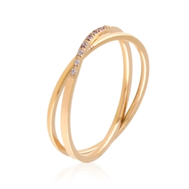 Pierścionek stal rose gold Xuping PP3085