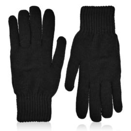 Rękawiczki czarne męskie 27cm 12szt/op RK647