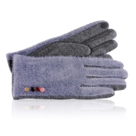 Rękawiczki damskie niebieskie RK657