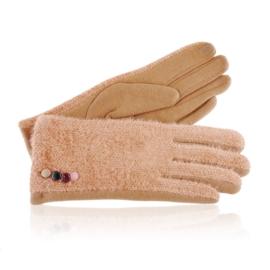 Rękawiczki damskie brązowe RK658