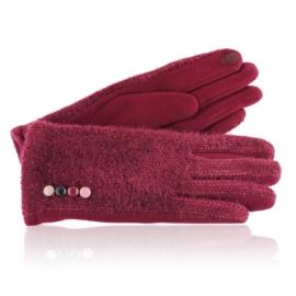 Rękawiczki damskie czerwone RK660