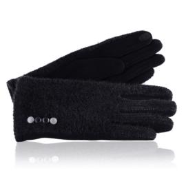 Rękawiczki damskie czarne RK661
