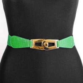 Pasek damski na gumie - zielony BL274