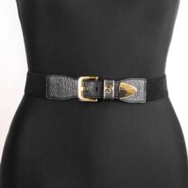 Pasek damski na gumie z klamrą BL281