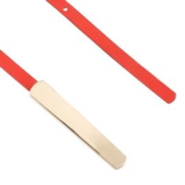 Pasek damski cienki czerwony BL312