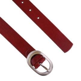 Pasek damski skórzany czerwony BL318