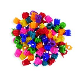 Żabki kauczukowe mix kolorów 100szt ZW105