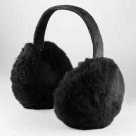 Nauszniki dziecięce futerkowe - black - OPSZ30