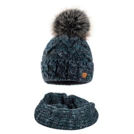 Komplet zimowy czapka komin wełna owcza KZ20