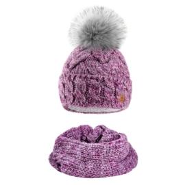 Komplet zimowy czapka komin wełna owcza KZ22