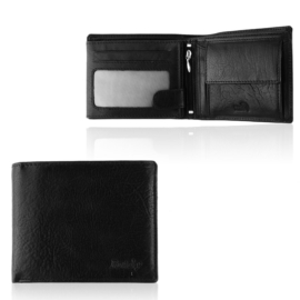 Portfel męski skórzany N992-BW Black P1426