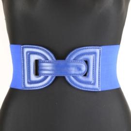 Pasek na szerokiej gumie - niebieski BL332