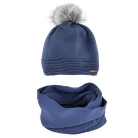 Komplet zimowy czapka komin KZ31