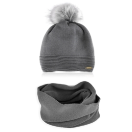 Komplet zimowy czapka komin KZ35