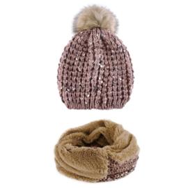 Komplet zimowy czapka komin KZ37