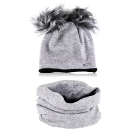 Komplet zimowy dziecięcy czapka komin KZ38