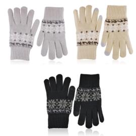 Rękawiczki TOUCH SCREEN śnieżynki 12szt RK662