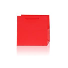 Torebki prezentowe czerwone 21x21cm 12szt TP613