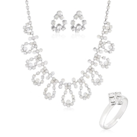 Komplet biżuterii wieczorowej KOM458