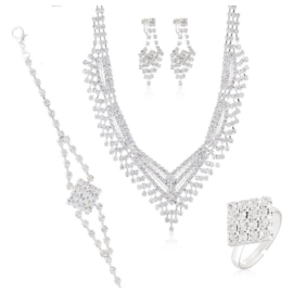Komplet biżuterii wieczorowej KOM468
