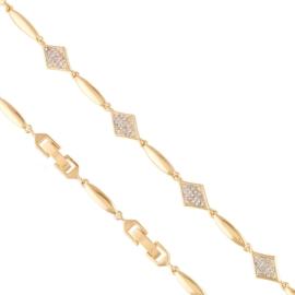Bransoletka codzienna z kryształkami Xuping BP8098