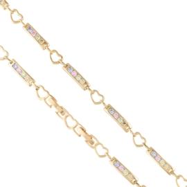 Bransoletka codzienna z kryształkami Xuping BP8099