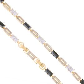 Bransoletka codzienna z kryształkami Xuping BP8101