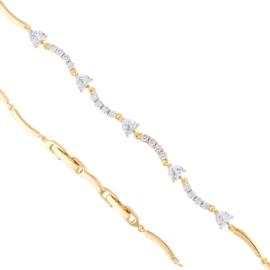 Bransoletka z kryształkami Xuping BP8121